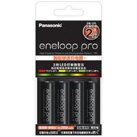 eneloop 爱乐普 充电电池5号五号4节 KJ55HCC40C 含55快速充电器 黑色 +凑单品