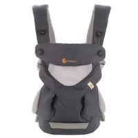 美国Ergobaby进口婴儿背带360系列透气款4种背法四季通用多功能宝宝抱带4-36个月 碳灰色