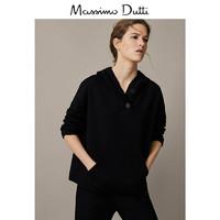 Massimo Dutti 06807562800 黑色针织衫女士连帽上衣