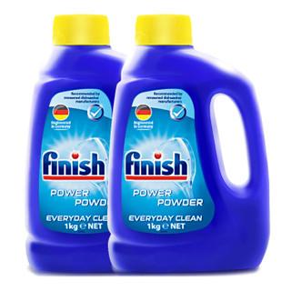 Finish 亮碟 洗碗机专用洗涤粉剂 1000g*2瓶装 *4件