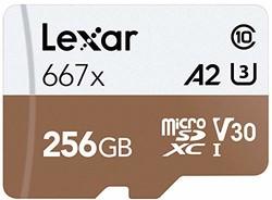 Lexar 雷克沙Professional 667x 256GB microSDXC UHS-I/U3 卡LSDMI256BNA667A 256GB