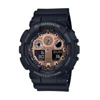 卡西欧手表 G-SHOCK  黑金防震防水防磁 男士自动LED照明手表 GA-100MMC-1A