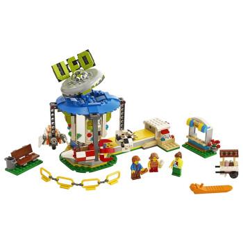 LEGO 乐高 创意百变三合一 31095 游乐场旋转木马+摩天轮+升降机 (小颗粒)