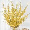 辰鱼 美式轻奢金属玻璃摆设装饰品 灯笼花瓶一对+10枝黄色跳舞兰