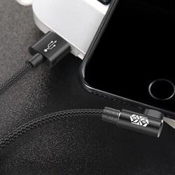 倍思 数据线快充弯头手机充电线适用于ipad/iPhone苹果通用 魅力黑   2米 *3件
