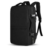 caifashcn 商务双肩包男大容量休闲潮流短途旅行小行李箱包15.6英寸笔记本电脑包 HK-09101A小款黑灰 *2件