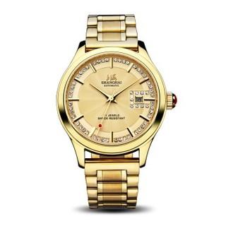 上海(SHANGHAI)手表 休闲纪念系列单历自动机械钟表男表 X733-2G钢带