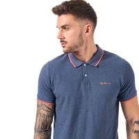 BEN SHERMAN Mens Tipped Pique Polo Shirt 男士POLO衫
