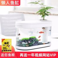 小米 白色水族箱生态鱼缸