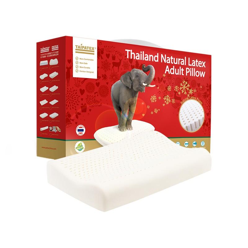 TAIPATEX 泰国天然乳胶枕头 透气养护枕 60*40*10cm