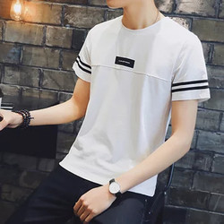 冲锋道 男士港风黑白色短袖t恤