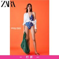 ZARA 新款 女装 印花打褶泳衣 05410036050