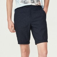 SELECTED 思莱德 S|4182SH529 男士棉麻短裤