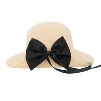 MINISO 名创优品 可折叠蝴蝶结草帽 56-58cm 2色可选