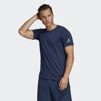 adidas 阿迪达斯 CZ5417 男子训练短袖T恤 (学院藏青蓝、S)
