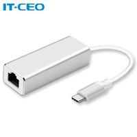 IT-CEO Type-C千兆有线网卡USB-C转RJ45网口转换器适合苹果Mac华为小米笔记本电脑 银色 J03297