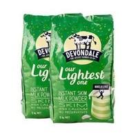 Devondale 德运 成人高钙脱脂奶粉 1000g*2袋