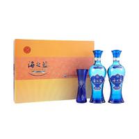 YANGHE 洋河 蓝色经典 海之蓝 52度 礼盒装 浓香型白酒 480ml*2瓶
