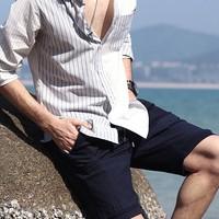 INTERIGHT 男款五分牛仔短裤
