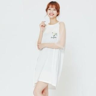 H:CONNECT 30173-121-304-46 女士网纱拼接连衣裙