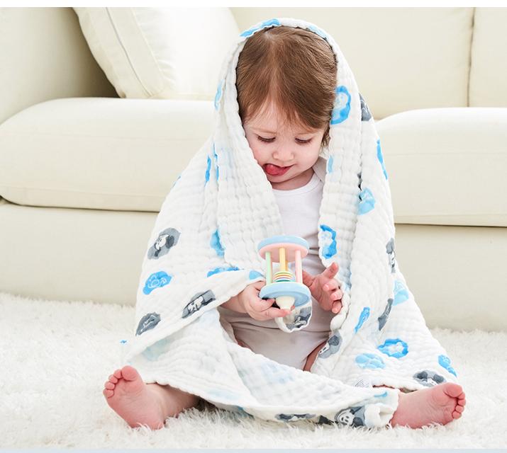 Disney 迪士尼 婴儿泡泡棉纱浴巾
