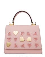 Helena Rubinstein 赫莲娜 包包女包单肩包心形刺绣手提包女士百搭个性斜挎小方包H2-2025882C3D粉色