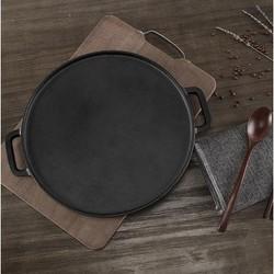 当当优品 手工铸铁双面煎盘 30cm *2件