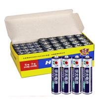华太 碳性电池 5号20节+7号20节 共40节