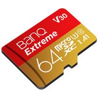 BanQ U3 64GB 读速100MB/s 写速50MB/s MicroSDXC UHS-I U3高速存储卡 行车记录仪专用TF卡 手机内存卡