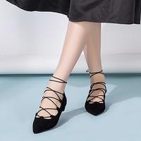 KANGNAI 康奈 1270944 女士绑带复古浅口鞋
