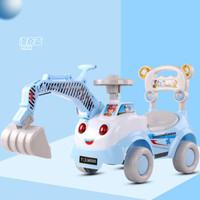 仿真型挖土机助步车可骑可坐宝宝挖掘机工程车