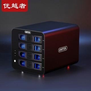 UNITEK 优越者 S301A 四盘位磁盘阵列SSD固态硬盘柜 黑色 (SATA接口、3.5英寸)