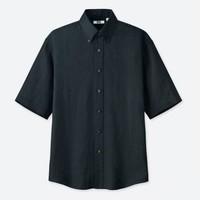 UNIQLO 优衣库 设计师合作款 416554 男款法国麻宽松衬衫