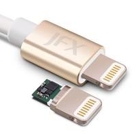 JFX 金飞迅 MFi认证 苹果lightning数据线 1M 2色可选