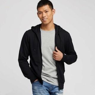 历史低价 : UNIQLO 优衣库  414352 男士AIRism防紫外线拉链卫衣