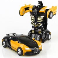 儿童一键变形变形金刚 模型玩具车 *4件