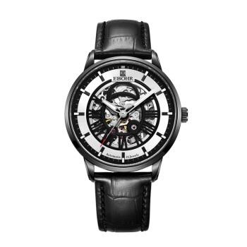 依波(EBOHR)手表钟表光环系列时尚潮流镂空皮带机械表56460230