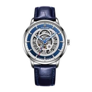 依波(EBOHR)手表钟表光环系列时尚潮流镂空皮带机械表56460131