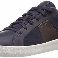 Geox 男 板鞋 U WARLEY U926HB-C4339 蓝色/咖啡色