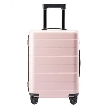 90分 轻质框体旅行箱 大容量轻盈行李箱 静音万向轮密码锁登机箱 拉杆箱 20英寸 樱花粉