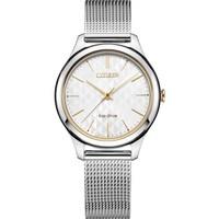 西铁城(CITIZEN)手表 光动能流光时代银款优雅女士腕表EM0504-81A