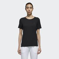 adidas 阿迪达斯 圆领女士T恤  DM4306  黑色 XL