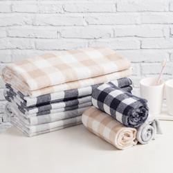 MINISO 名创优品 棉格子浴巾 70*140cm 3色可选