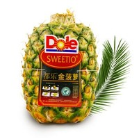 Dole 都乐 菲律宾进口无冠金菠萝 约1.5kg*2件+榴莲西施 猫山王榴莲泡泡 30g*4个+地瓜500g
