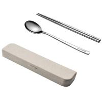 古域 304不锈钢筷勺组合 +收纳盒