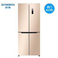Skyworth  创维 BCD-415WP  415L十字对开门冰箱