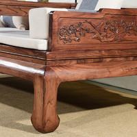 老榆木罗汉床实木炕桌床榻椅现代简约榻客厅沙发塌禅意新中式炕几