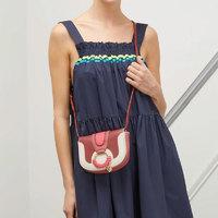 SeeByChloé Hana系列 女士时尚拼色圆环细节翻盖单肩斜挎包 迷你