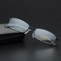 精工 男半框纯钛眼镜框 H01061