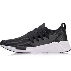 李宁 LI-NING AGLN083-4 运动时尚系列男子潮流休闲鞋 标准黑/檀黑色  43.5码